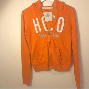 Hollister   Logo Orange SURF CLUB full-zip hoodie